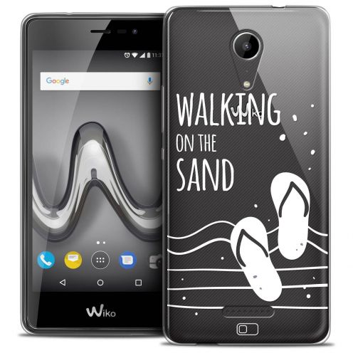 "Coque Crystal Gel Wiko Tommy 2 (5"") Extra Fine Summer - Walking on the Sand"