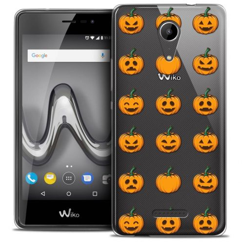 "Extra Slim Crystal Gel Wiko Tommy 2 (5"") Case Halloween Smiley Citrouille"