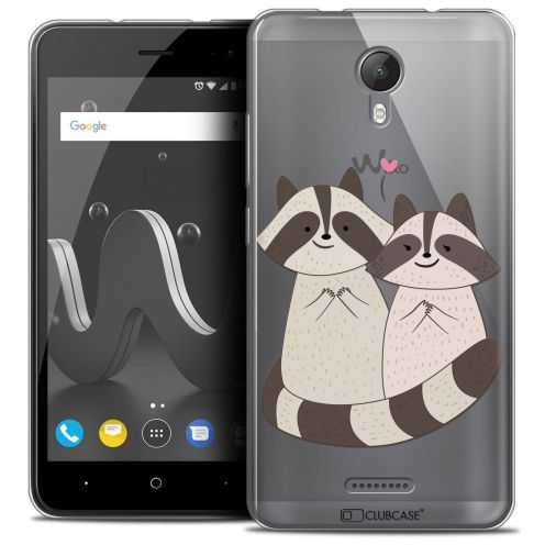 "Coque Crystal Gel Wiko Jerry 2 (5"") Extra Fine Sweetie - Racoon Love"