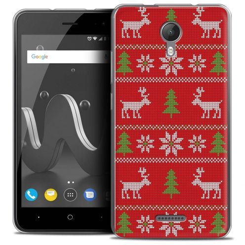 "Coque Crystal Gel Wiko Jerry 2 (5"") Extra Fine Noël 2017 - Couture Rouge"