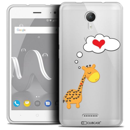 "Coque Crystal Gel Wiko Jerry 2 (5"") Extra Fine Love - Girafe Amoureuse"