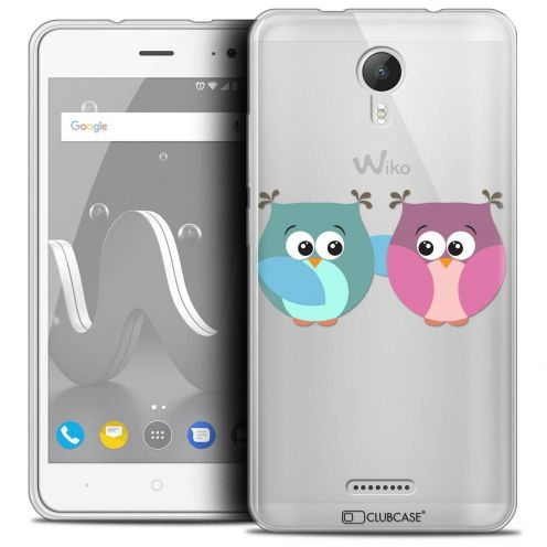 "Coque Crystal Gel Wiko Jerry 2 (5"") Extra Fine Love - Hibous à deux"