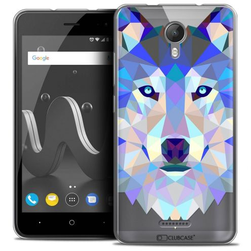 "Coque Crystal Gel Wiko Jerry 2 (5"") Extra Fine Polygon Animals - Loup"