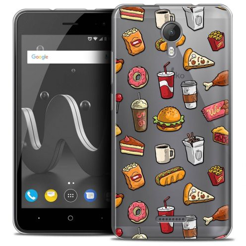 """Coque Crystal Gel Wiko Jerry 2 (5"""") Extra Fine Foodie - Fast Food"""