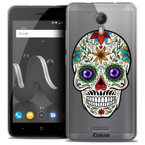 """Coque Crystal Gel Wiko Jerry 2 (5"""") Extra Fine Skull - Maria's Flower"""