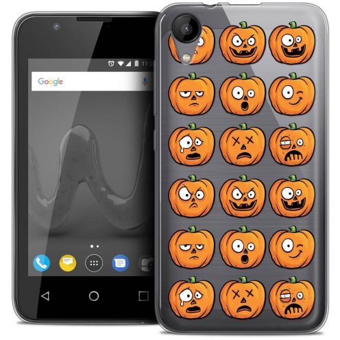 "Coque Wiko Sunny 2 Crystal Gel (4"") Extra Fine Halloween - Cartoon Citrouille"