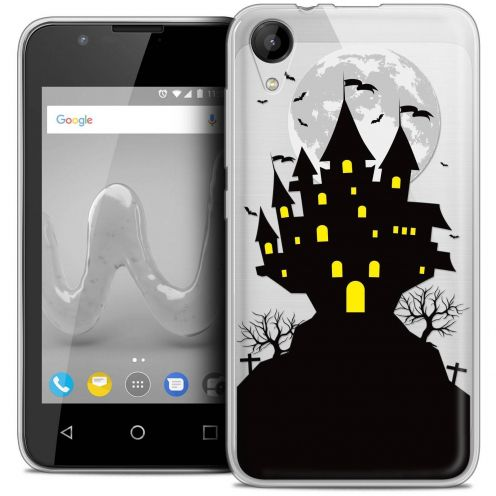 "Coque Wiko Sunny 2 Crystal Gel (4"") Extra Fine Halloween - Castle Scream"