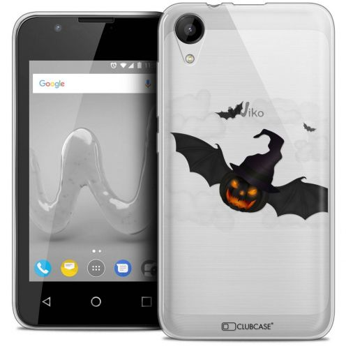 """Coque Wiko Sunny 2 Crystal Gel (4"""") Extra Fine Halloween - Chauve Citrouille"""