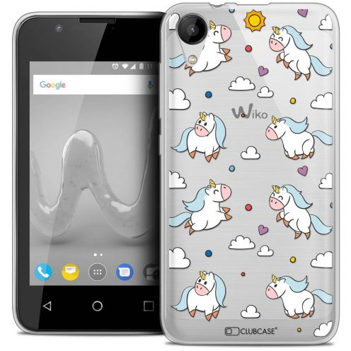 "Coque Wiko Sunny 2 Crystal Gel (4"") Extra Fine Fantasia - Licorne In the Sky"