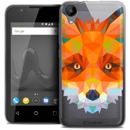 "Coque Wiko Sunny 2 Crystal Gel (4"") Extra Fine Polygon Animals - Renard"