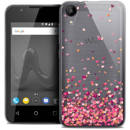 """Coque Wiko Sunny 2 Crystal Gel (4"""") Extra Fine Sweetie - Heart Flakes"""