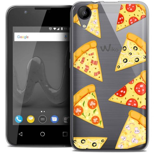 "Coque Wiko Sunny 2 Crystal Gel (4"") Extra Fine Foodie - Pizza"
