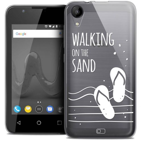 "Coque Wiko Sunny 2 Crystal Gel (4"") Extra Fine Summer - Walking on the Sand"