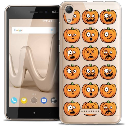 "Coque Crystal Gel Wiko Lenny 4 (5"") Extra Fine Halloween - Cartoon Citrouille"