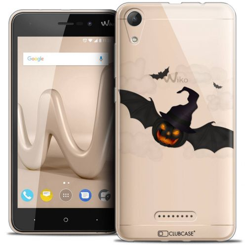 "Extra Slim Crystal Gel Wiko Lenny 4 (5"") Case Halloween Chauve Citrouille"