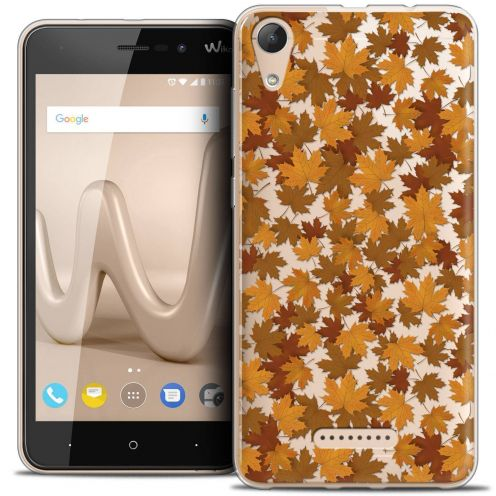 """Coque Crystal Gel Wiko Lenny 4 (5"""") Extra Fine Autumn 16 - Feuilles"""