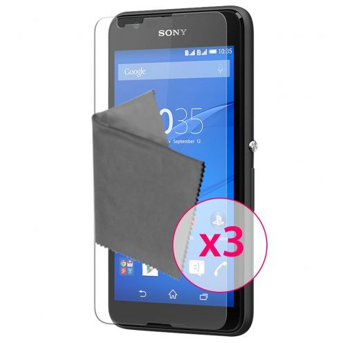 Clubcase ® Ultra Clear HQ screen protector for Sony XPERIA E4 3-Pack