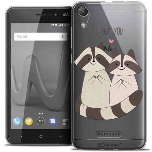"Coque Crystal Gel Wiko Lenny 4 (5"") Extra Fine Sweetie - Racoon Love"