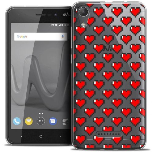 "Coque Crystal Gel Wiko Lenny 4 (5"") Extra Fine Love - Pixel Art"