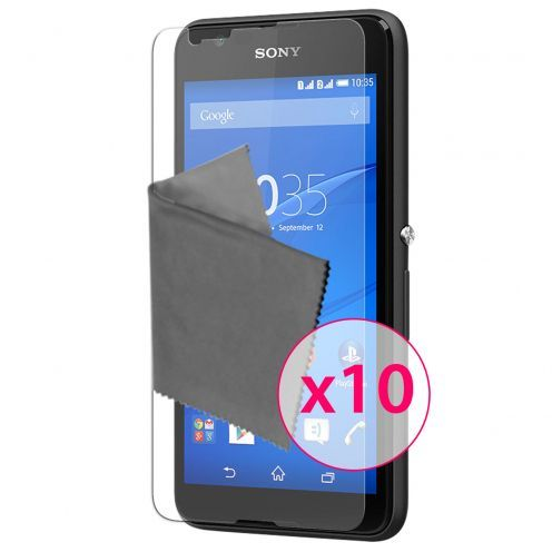 Clubcase ® Ultra Clear HQ screen protector for Sony XPERIA E4 10-Pack
