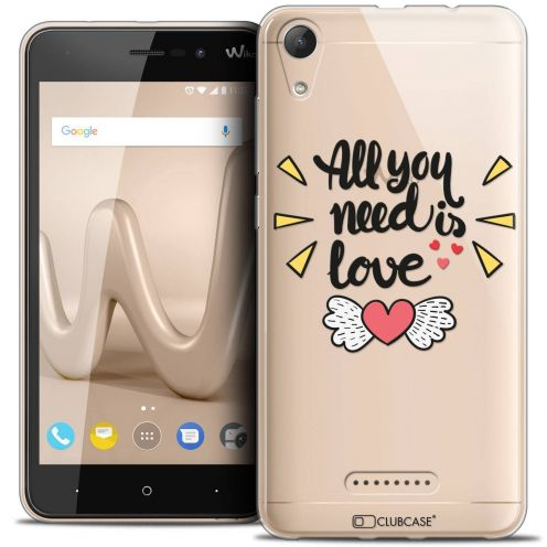 "Coque Crystal Gel Wiko Lenny 4 (5"") Extra Fine Love - All U Need Is"