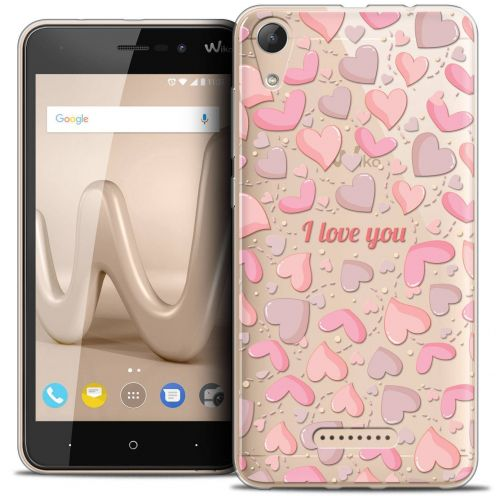 "Coque Crystal Gel Wiko Lenny 4 (5"") Extra Fine Love - I Love You"