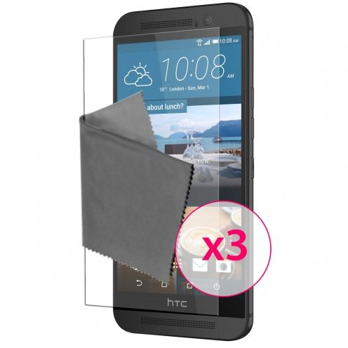 Clubcase ® Ultra Clear HQ screen protector for HTC One M9 3-Pack