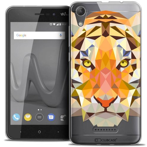 "Coque Crystal Gel Wiko Lenny 4 (5"") Extra Fine Polygon Animals - Tigre"