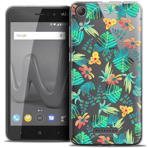 "Coque Crystal Gel Wiko Lenny 4 (5"") Extra Fine Spring - Tropical"