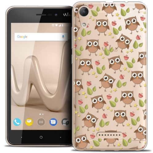 "Coque Crystal Gel Wiko Lenny 4 (5"") Extra Fine Summer - Hibou"