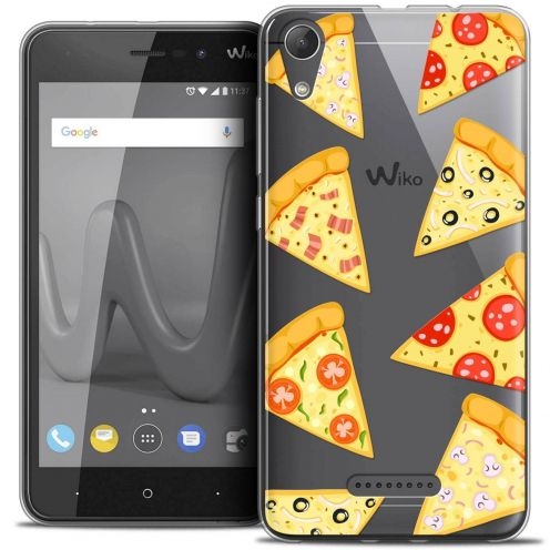 "Coque Crystal Gel Wiko Lenny 4 (5"") Extra Fine Foodie - Pizza"