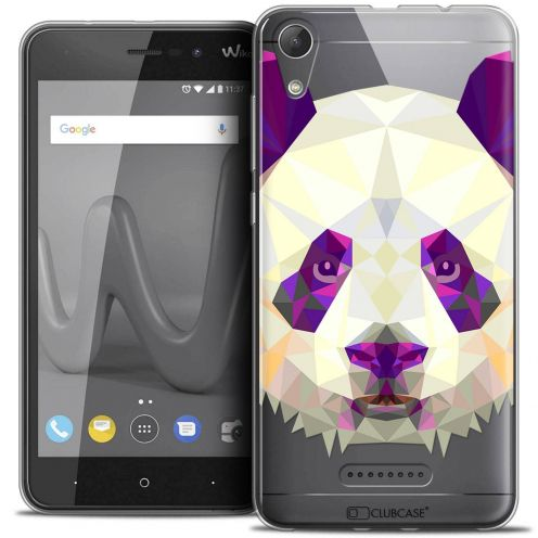 "Coque Crystal Gel Wiko Lenny 4 (5"") Extra Fine Polygon Animals - Panda"