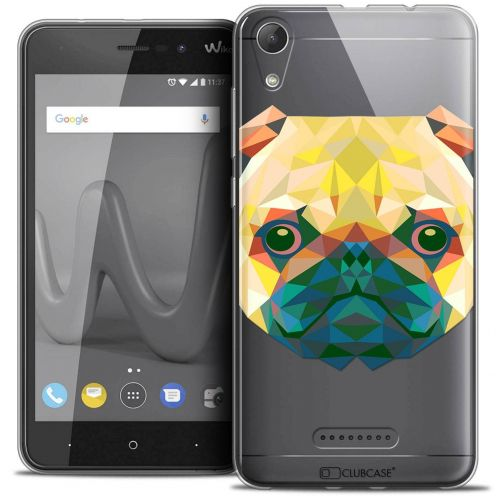 "Coque Crystal Gel Wiko Lenny 4 (5"") Extra Fine Polygon Animals - Chien"