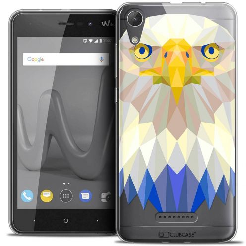 "Coque Crystal Gel Wiko Lenny 4 (5"") Extra Fine Polygon Animals - Aigle"