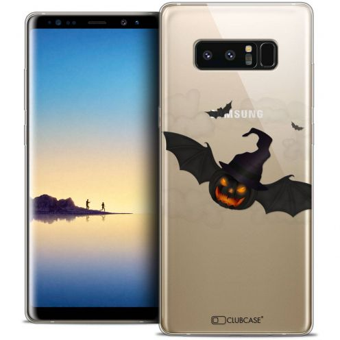 "Coque Crystal Gel Samsung Galaxy Note 8 (6.3"") Extra Fine Halloween - Chauve Citrouille"