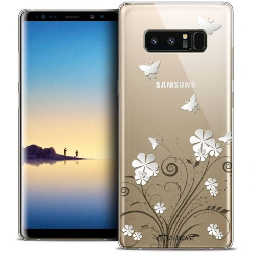 "Coque Crystal Gel Samsung Galaxy Note 8 (6.3"") Extra Fine Summer - Papillons"