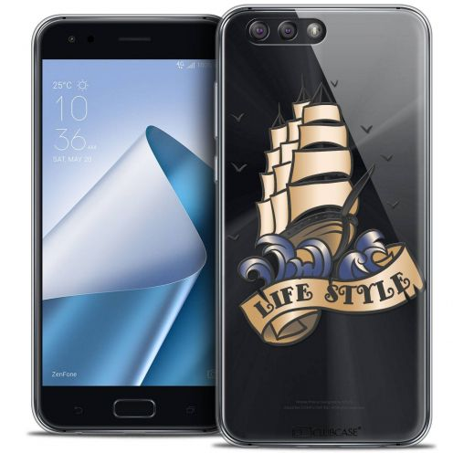 "Coque Crystal Gel Asus Zenfone 4 ZE554KL (5.5"") Extra Fine Tatoo Lover - Life Style"