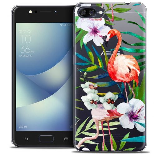 "Coque Crystal Gel Asus Zenfone 4 MAX ZC520KL (5.2"") Extra Fine Watercolor - Tropical Flamingo"