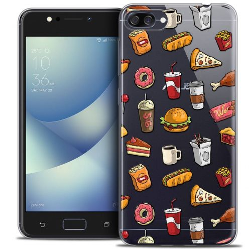 "Coque Crystal Gel Asus Zenfone 4 MAX ZC520KL (5.2"") Extra Fine Foodie - Fast Food"