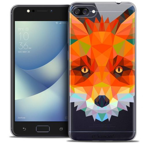 "Coque Crystal Gel Asus Zenfone 4 MAX ZC520KL (5.2"") Extra Fine Polygon Animals - Renard"
