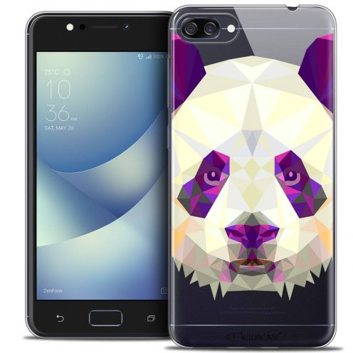 "Coque Crystal Gel Asus Zenfone 4 MAX ZC520KL (5.2"") Extra Fine Polygon Animals - Panda"