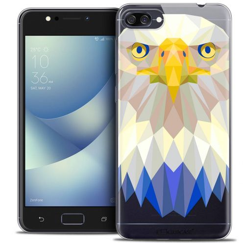 "Coque Crystal Gel Asus Zenfone 4 MAX ZC520KL (5.2"") Extra Fine Polygon Animals - Aigle"