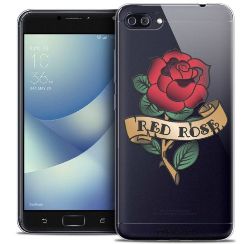 "Coque Crystal Gel Asus Zenfone 4 MAX PLUS / Pro ZC554KL (5.5"") Extra Fine Tatoo Lover - Red Rose"