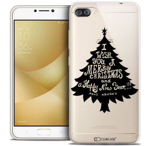"Extra Slim Crystal Gel Asus Zenfone 4 MAX PLUS / Pro ZC554KL (5.5"") Case Noël 2017 XOXO Tree"