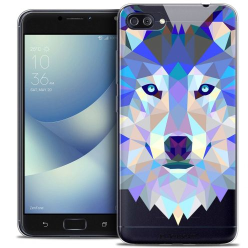 "Coque Crystal Gel Asus Zenfone 4 MAX PLUS / Pro ZC554KL (5.5"") Extra Fine Polygon Animals - Loup"