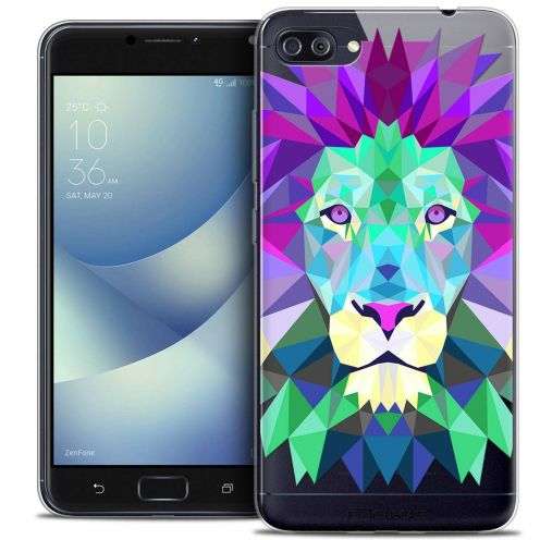 "Coque Crystal Gel Asus Zenfone 4 MAX PLUS / Pro ZC554KL (5.5"") Extra Fine Polygon Animals - Lion"