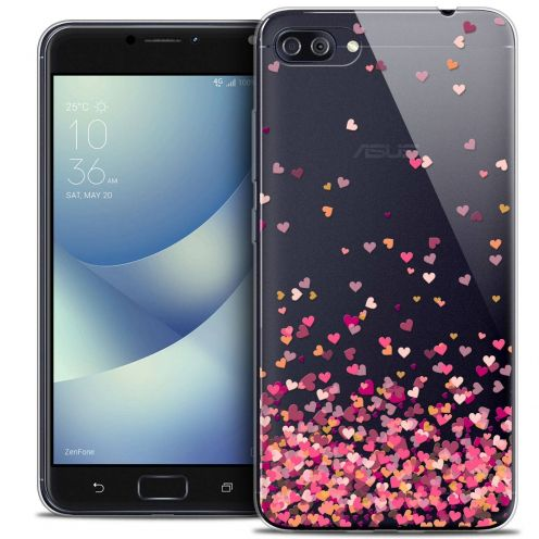 "Coque Crystal Gel Asus Zenfone 4 MAX PLUS / Pro ZC554KL (5.5"") Extra Fine Sweetie - Heart Flakes"