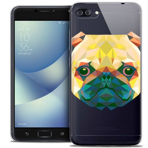 "Coque Crystal Gel Asus Zenfone 4 MAX PLUS / Pro ZC554KL (5.5"") Extra Fine Polygon Animals - Chien"