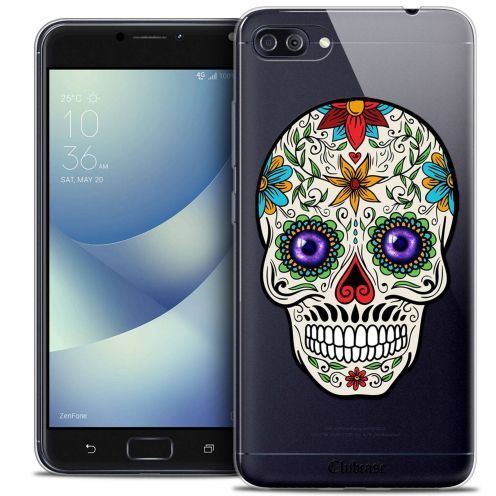 "Coque Crystal Gel Asus Zenfone 4 MAX PLUS / Pro ZC554KL (5.5"") Extra Fine Skull - Maria's Flower"