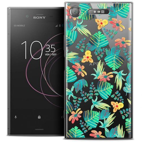 "Coque Crystal Gel Sony Xperia XZ1 (5.2"") Extra Fine Spring - Tropical"